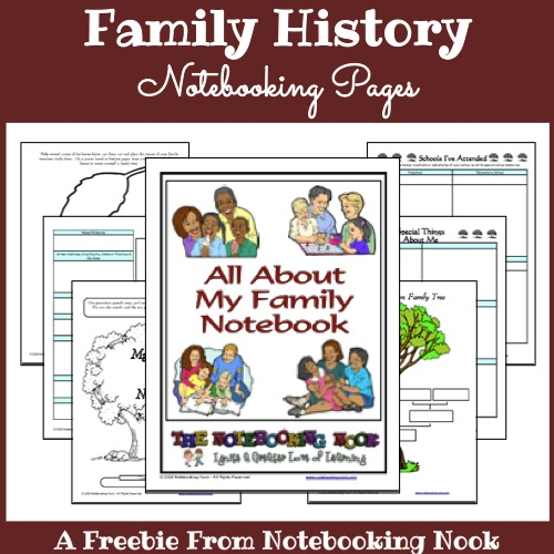 Freebie: All About My Family Notebooking Pages