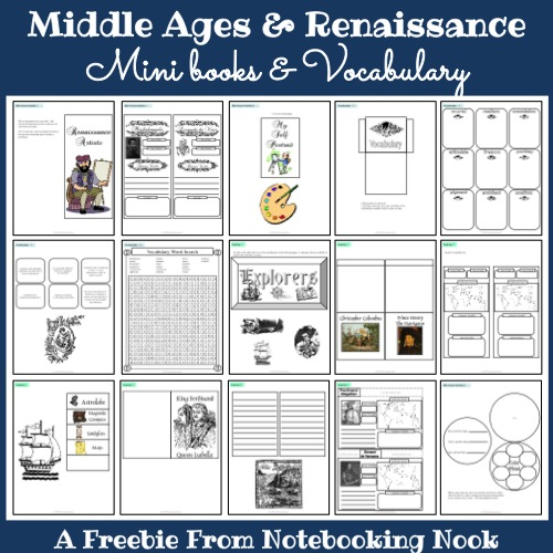 freebies middle ages renaissance mini books and vocabulary notebooking nook. Black Bedroom Furniture Sets. Home Design Ideas