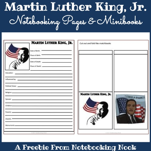 Freebie: Martin Luther King, Jr. Notebooking Pages