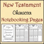 Freebie: New Testament Character Notebooking Pages