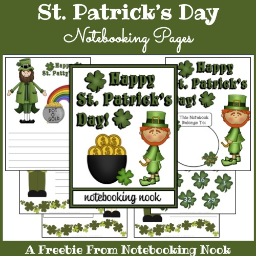 Freebie: St. Patrick's Day Notebooking Pages
