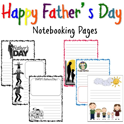 Freebie: Father's Day Notebooking Pages