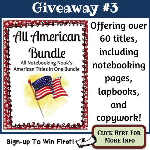 Giveaway #3 - All American Bundle