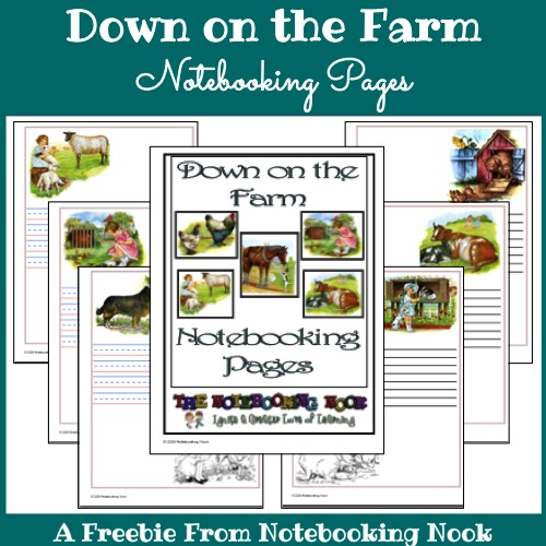 Freebie: Down on the Farm Notebooking Pages