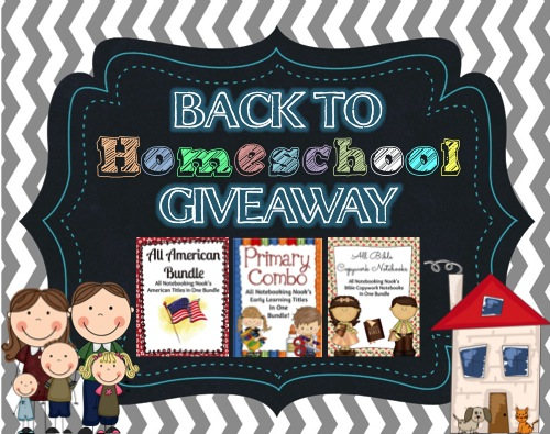 Notebooking Nook's Back To Homeschool Giveaway from Notebooking Nook!