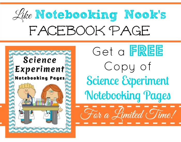Science Experiment Notebooking Pages - Only For Likers Facebook Freebie - Limited Time!