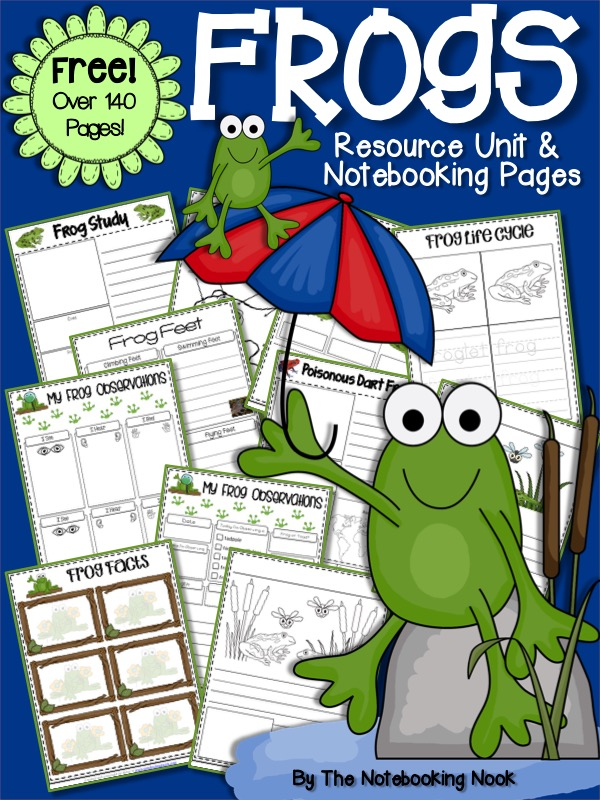 FREE Frogs Resource Unit and Notebooking Pages from The Notebooking Nook