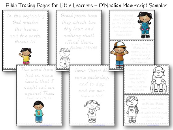 bible tracing and copywork for little learners � d�nealian
