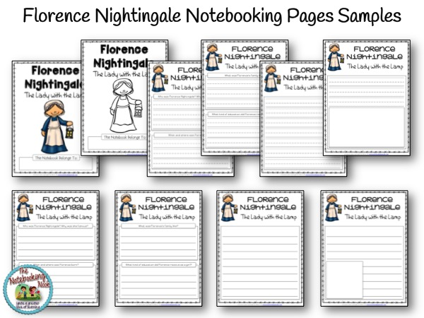 Florence Nightingale Notebooking Pages Samples from The Notebooking Nook