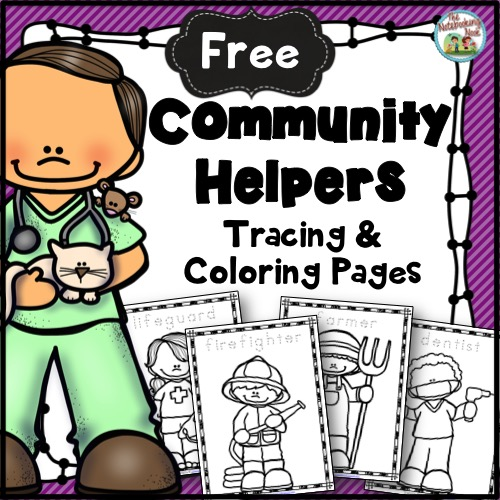 Free Community Helpers Tracing & Coloring Pages