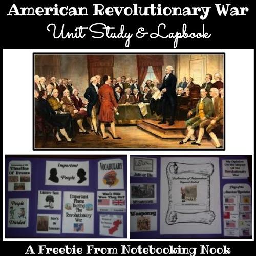 Freebie: American Revolutionary War Unit Study and Lapbook